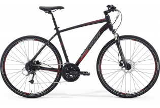 MERIDA Crossway 300 (matt black/grey/red)