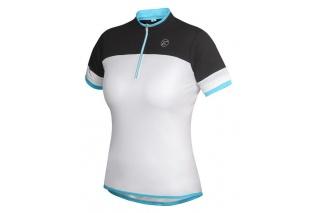 cb163aefd dámský cyklistický dres Etape Clara, bílá/světle modrá